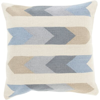 Todd Cotton Indoor Throw Pillow Size: 18 H x 18 W x 4 D, Color: Beige, Filler: Down