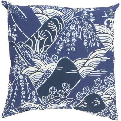 Throw Pillow Color: Navy, Size: 20 H x 20 W x 5 D, Filler: Polyester