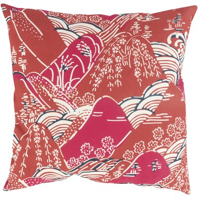 Throw Pillow Size: 18 H x 18 W x 4 D, Color: Burgundy, Filler: Polyester