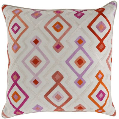 Cotton Throw Pillow Size: 20 H x 20 W, Color: Rust, Filler: Down