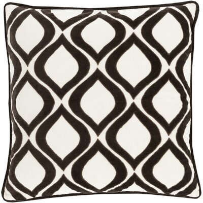 Bourbana Throw Pillow Size: 18 H x 18 W x 4 D, Color: Brown/Ivory, Filler: Down