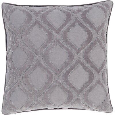 Bourbana Throw Pillow Size: 18 H x 18 W x 4 D, Color: Gray/Charcoal, Filler: Down