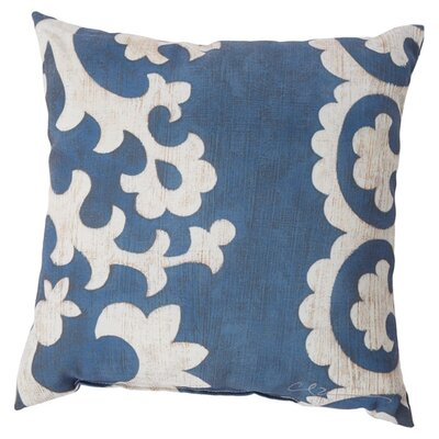 Butler Scroll Throw Pillow Size: 18, Color: Blue