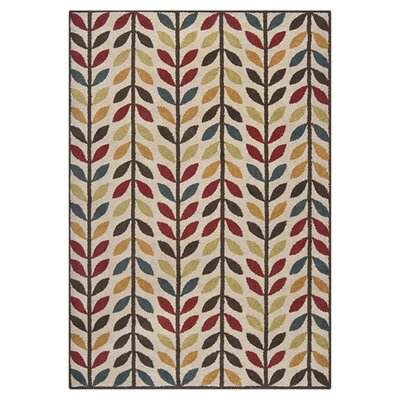 Toya Red Area Rug Rug Size: 53 x 76