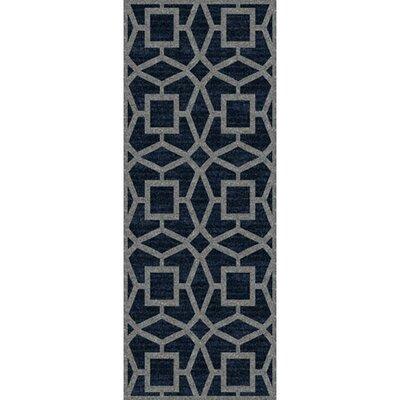 Lozano Midnight Blue Area Rug Rug Size: Runner 26 x 8