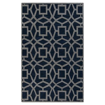 Lozano Midnight Blue Area Rug Rug Size: Rectangle 33 x 53