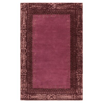 Alessandro Burgundy Area Rug Rug Size: Rectangle 8 x 11