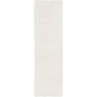 Hallum White Rug Rug Size: Runner 23 x 8