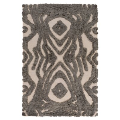 Aubriana Hand Woven Wool Taupe Area Rug Rug Size: Rectangle 36 x 56