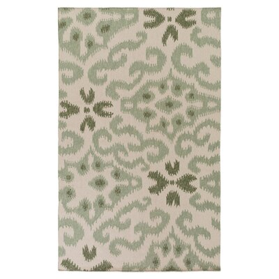 Wentworth Hand-Woven Green Area Rug Rug Size: 33 x 53