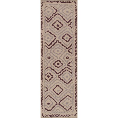 Adelaide Taupe Area Rug Rug Size: Runner 26 x 8