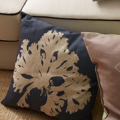 Broadway Village Coral Throw Pillow Size: 20, Color: Blue