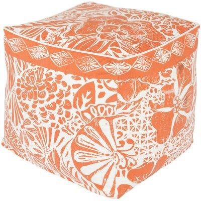 Ware Pouf Ottoman Upholstery: Poppy/Ivory