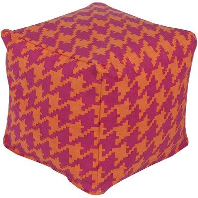 Chelsie Pouf Upholstery: Hot Pink/Tangerine