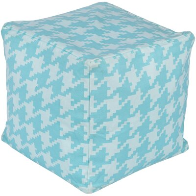 Chelsie Pouf Upholstery: Slate/Sky Blue