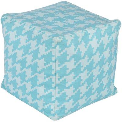 Chelsie Pouf Ottoman Upholstery: Slate/Sky Blue