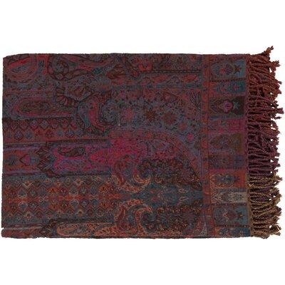Belinda Throw Color: Dark Purple/Rust
