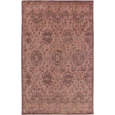 Arensburg Hand-Tufted Salmon/Pastel Pink Area Rug Rug Size: Rectangle 5 x 8
