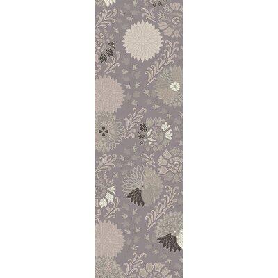 Vintage Light Gray Area Rug Rug Size: 2 x 3