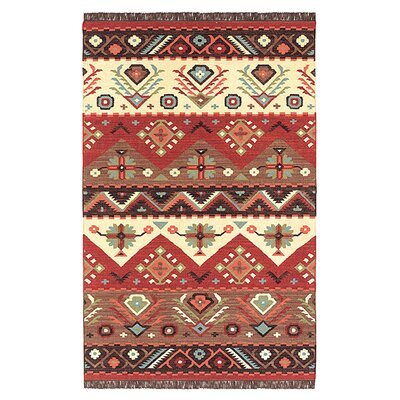Double Hand Woven Wool Multi-Colored Area Rug Rug Size: Rectangle 36 x 56