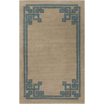 Eugenie Taupe/Teal Area Rug Rug Size: Rectangle 33 x 53