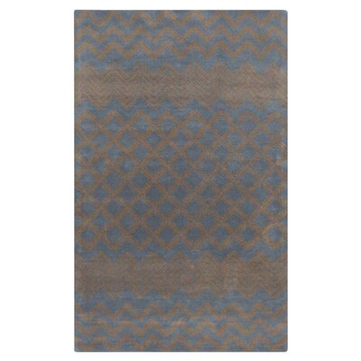 Halverson Hand-Tufted Mocha/Navy Area Rug Rug Size: Rectangle 2 x 3