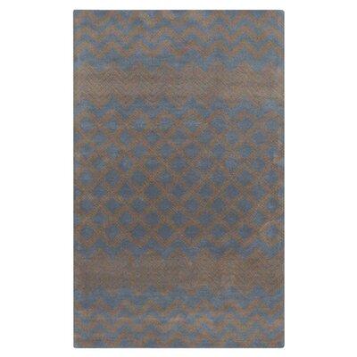 Halverson Hand-Tufted Mocha/Navy Area Rug Rug Size: Rectangle 2 x 3