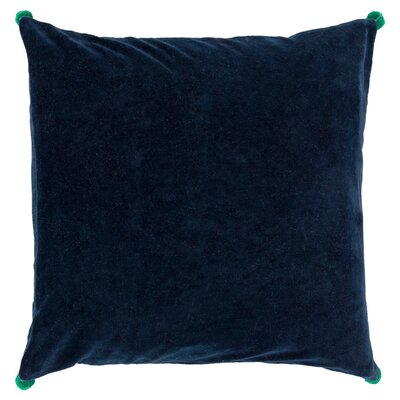 Armina Throw Pillow Color: Navy, Filler: Down