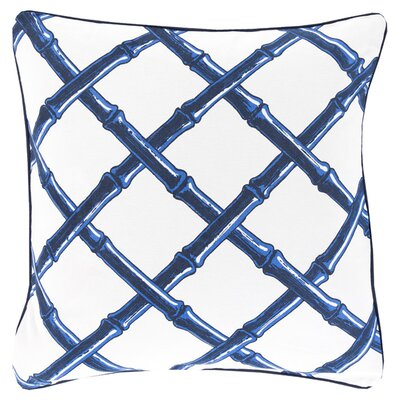Cotton Throw Pillow Color: Cobalt, Filler: Down