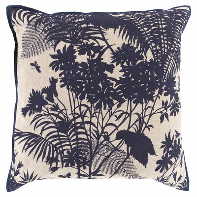 Asher Throw Pillow Color: Cobalt, Filler: Down