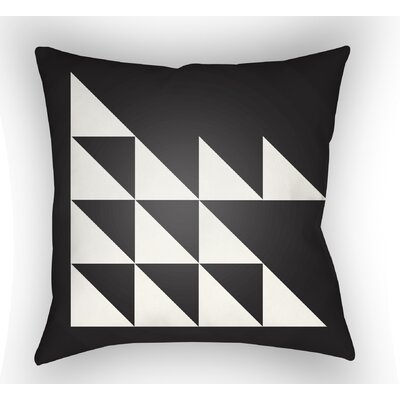 Wakefield Geometric Square Indoor Throw Pillow Size: 18 H x 18 W x 4 D, Color: Black