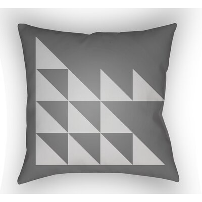 Wakefield Geometric Square Indoor Throw Pillow Size: 18 H x 18 W x 4 D, Color: Grey