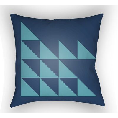 Wakefield Geometric Square Indoor Throw Pillow Color: Turquoise, Size: 22 H �x 22 W x 5 D