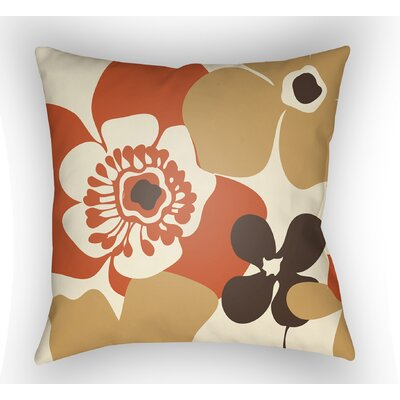 Wakefield Flower Throw Pillow Color: Cream, Size: 20 H x 20 W x 5 D