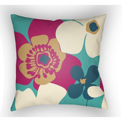 Bendel Throw Pillow Size: 20 H x 20 W x 5 D, Color: Turquoise