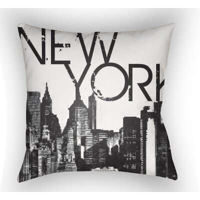 Bainum New York Throw Pillow Size: 22 H �x 22 W x 5 D