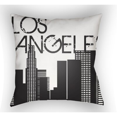 Bainum Los Angeles Throw Pillow Size: 22 H �x 22 W x 5 D
