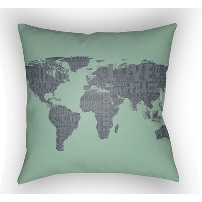 Bainum Square Throw Pillow Color: Seafoam, Size: 22 H �x 22 W x 5 D