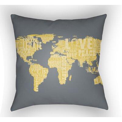 Bainum Square Throw Pillow Size: 18 H x 18 W x 4 D, Color: Grey