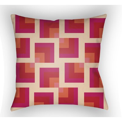 Wakefield Square Indoor Throw Pillow Size: 20 H x 20 W x 5 D, Color: Pink/Red