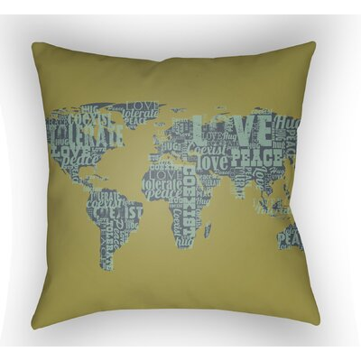 Bainum Square Throw Pillow Color: Green, Size: 22 H �x 22 W x 5 D