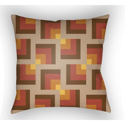Wakefield Square Indoor Throw Pillow Size: 18 H x 18 W x 4 D, Color: Brown/Red