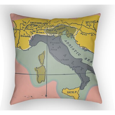 Bainum Europe Throw Pillow Size: 18 H x 18 W x 4 D