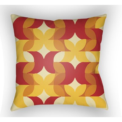 Wakefield Throw Pillow Size: 20 H x 20 W x 5 D, Color: Red/Yellow