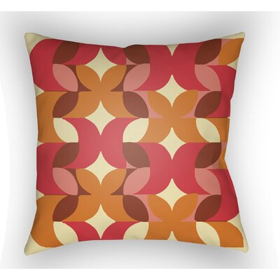 Wakefield Throw Pillow Size: 18 H x 18 W x 4 D, Color: Red/Yellow