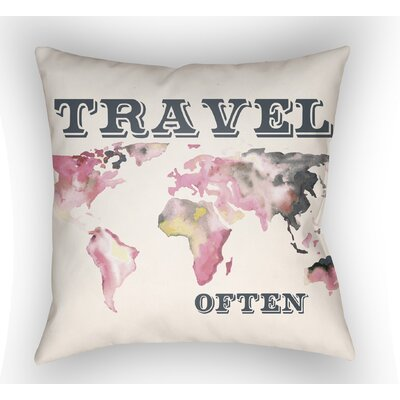 Bainum Travel Throw Pillow Size: 18 H x 18 W x 4 D