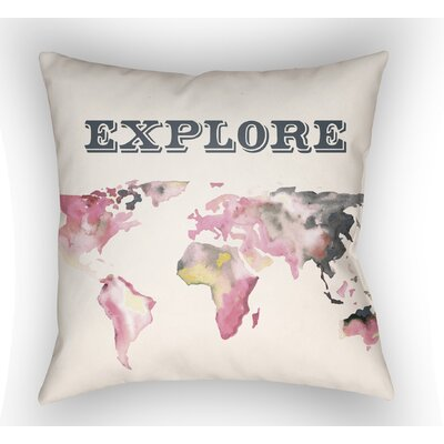 Bainum Explore Throw Pillow Size: 18 H x 18 W x 4 D