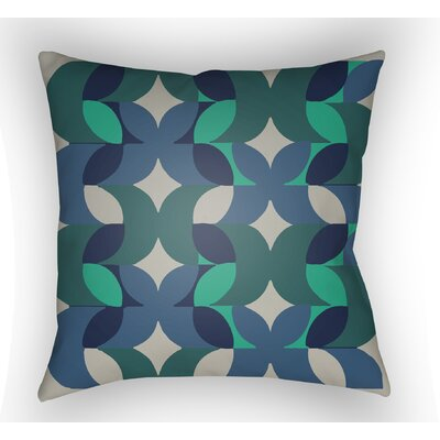Wakefield Throw Pillow Size: 20 H x 20 W x 5 D, Color: Blue/Teal