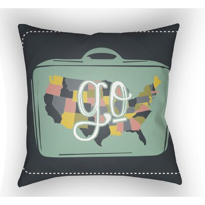 Bainum Go Throw Pillow Size: 18 H x 18 W x 4 D, Color: Black