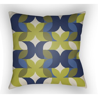 Wakefield Throw Pillow Size: 20 H x 20 W x 5 D, Color: Blue/Lime